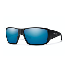 Smith Smith Guide's Choice Sunglass: Matte Black ChromaPop Polarized Blue Mirror Lens