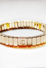 Caryn Lawn Caryn Lawn Tile Bracelet- All Gold Mini