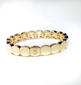 Caryn Lawn Caryn Lawn Tile Bead Round Bracelet - Gold
