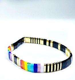 Caryn Lawn Caryn Lawn Supernova Bracelet - Black Rainbow