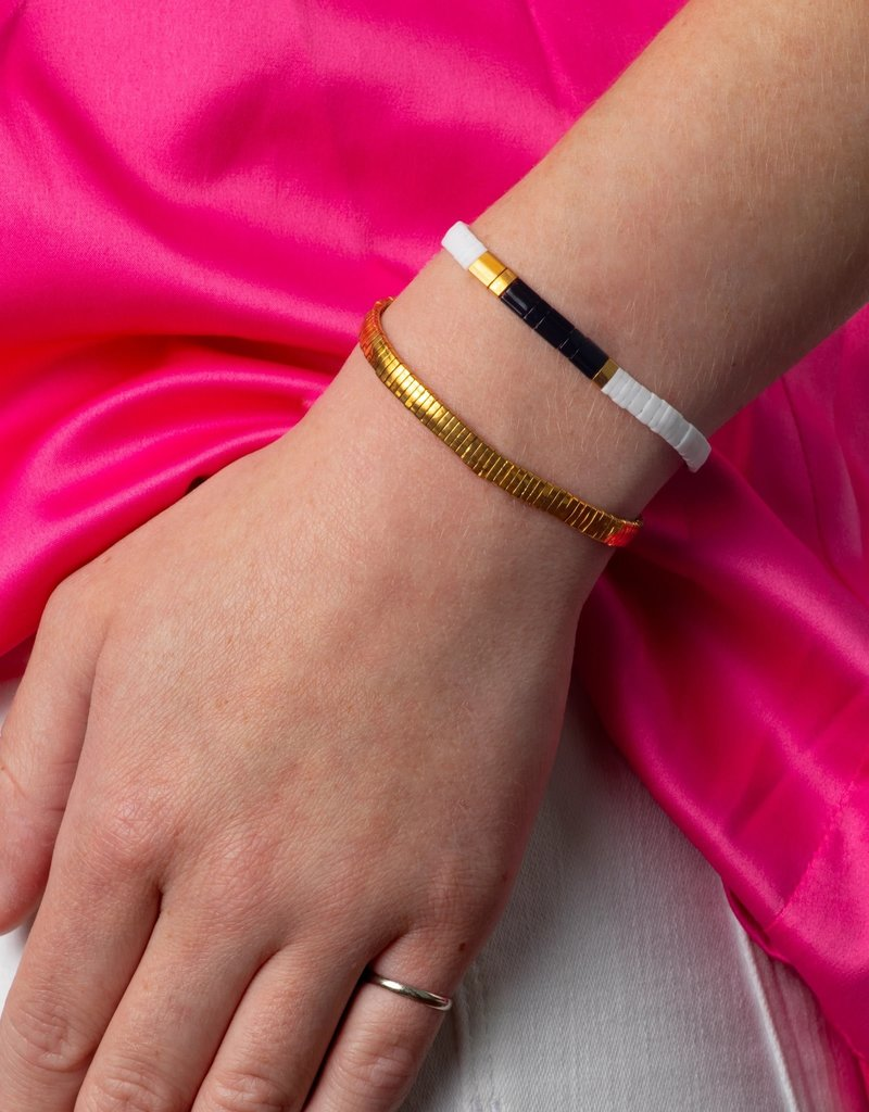 Caryn Lawn Caryn Lawn Supernova Bracelet - Black/White/Gold