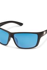 Suncloud Suncloud Councilman Matte Black/Polarized Blue Mirror