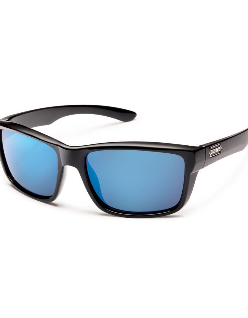 Suncloud Suncloud Mayor Black/Polarized Blue Mirror