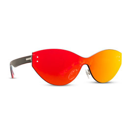 VonZipper VonZipper Alt - Taffey Black Satin/Red Chrome