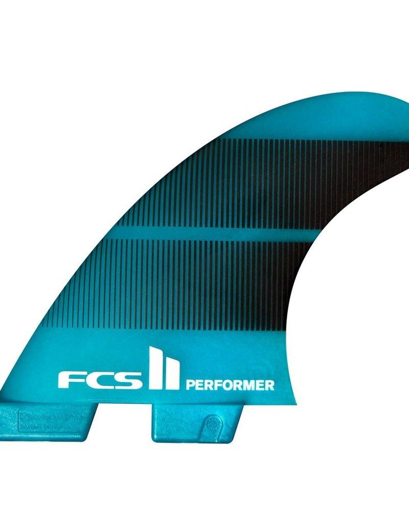 FCS FCS II Performer Neo Glass Medium Teal Gradient Quad Fins