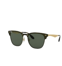 Ray Ban Ray Ban Blaze Clubmaster Brusched Gold w/ Dark Green