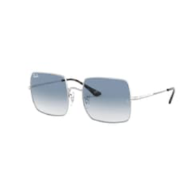 Ray Ban Ray-Ban Square Silver w/ Clear Gradient Blue