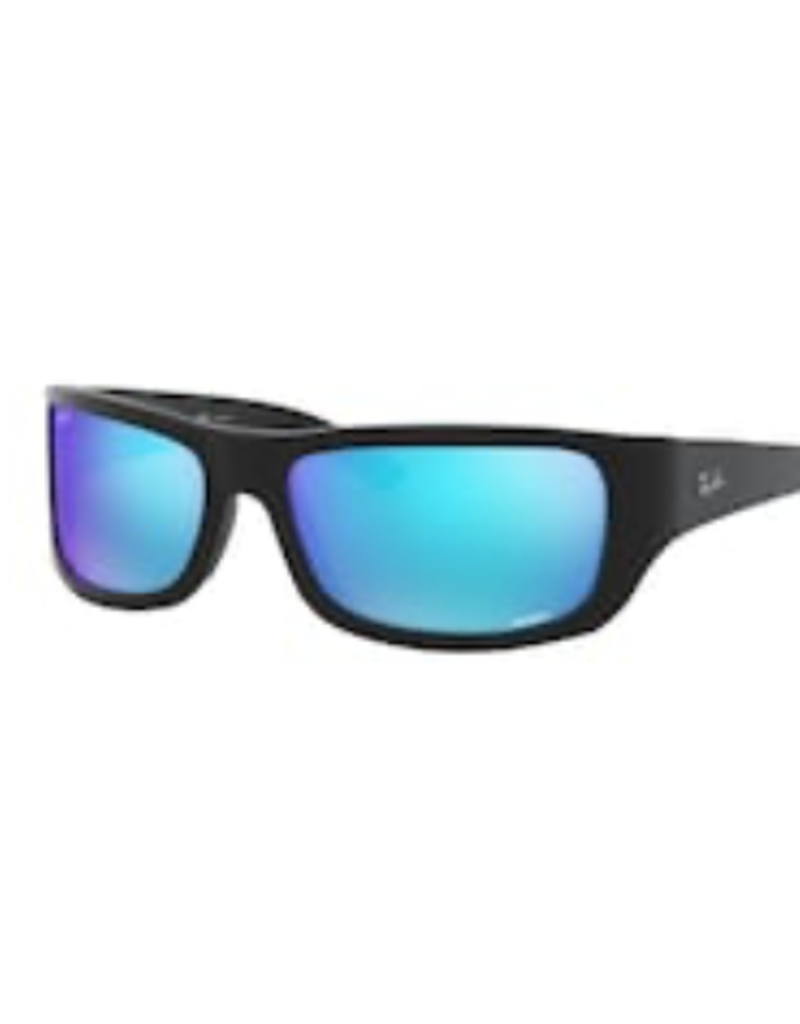 Ray Ban Ray-Ban Black w/ Green Mirror Blue Polarized