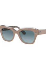 Ray Ban Ray Ban State Street Beige On Transparent w/ Blue Gradient