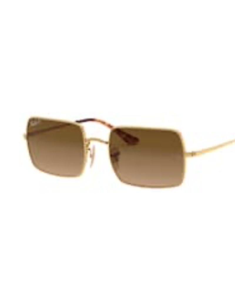 Ray Ban Ray-Ban Rectangle Gold w/ Brown Gradient Polarized