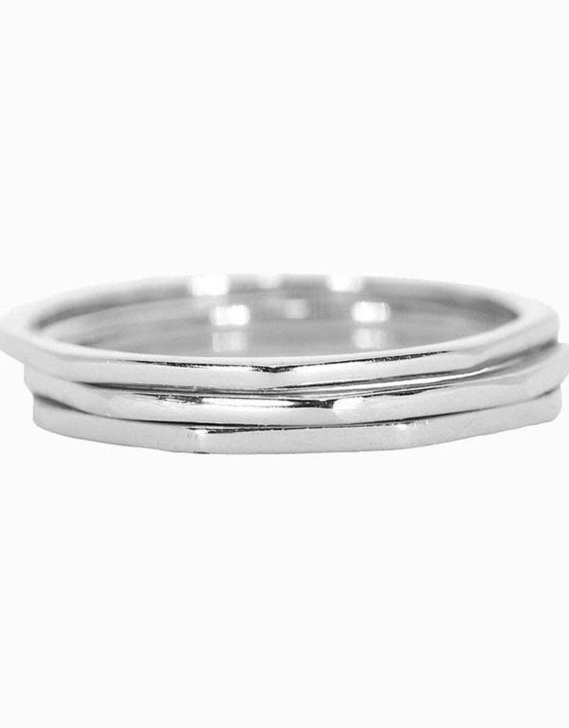 Pura Vida Pura Vida Delicate Stacked Rings