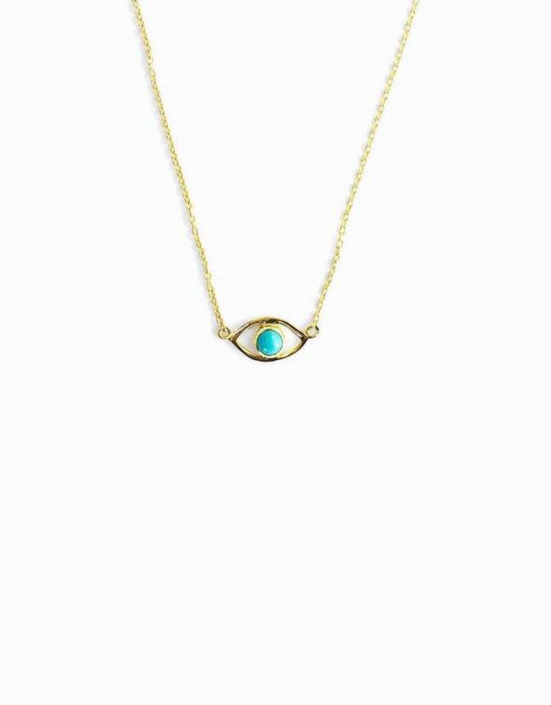 Pura Vida Pura Vida Evil Eye Turquoise Necklace