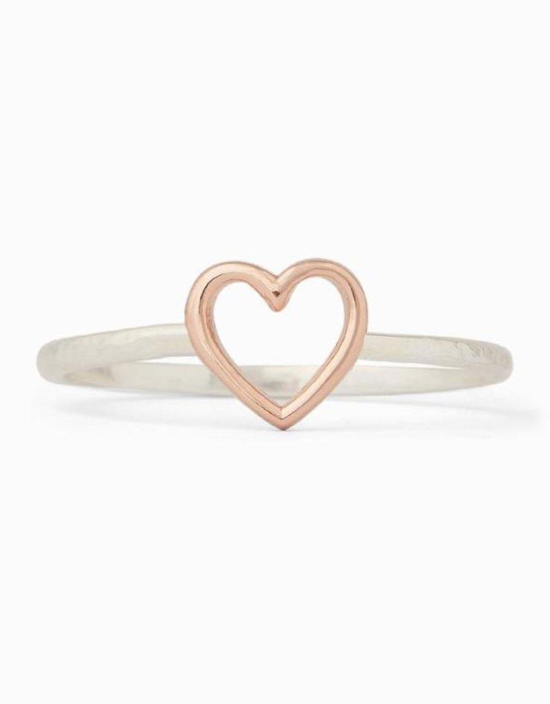 Pura Vida Pura Vida Silver Open Heart Ring