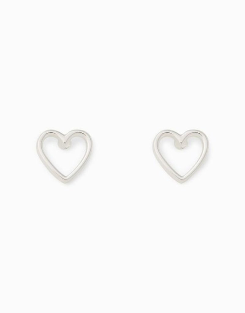 Pura Vida Pura Vida Silver Open Heart Stud Earrings