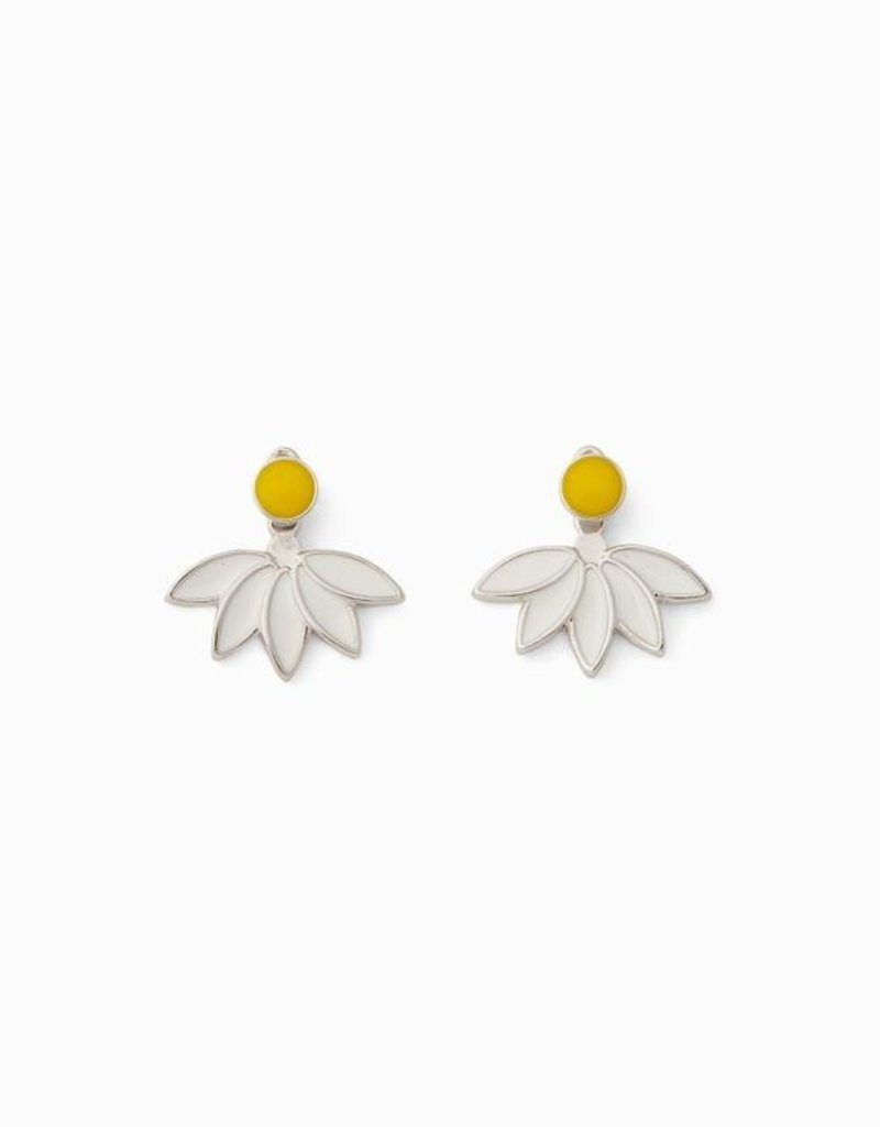 Pura Vida Pura Vida Silver Daisy Jacket Earrings