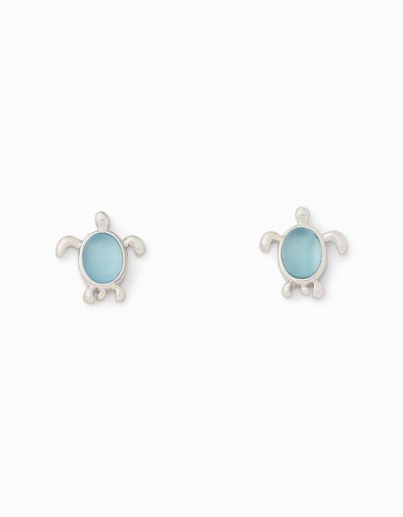 Pura Vida Pura Vida Silver Sea Turtle Stud Earrings