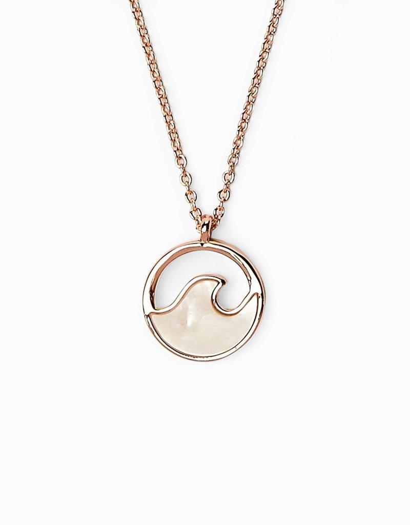 Pura Vida Pura Vida Rose Gold Stone Wave Necklace