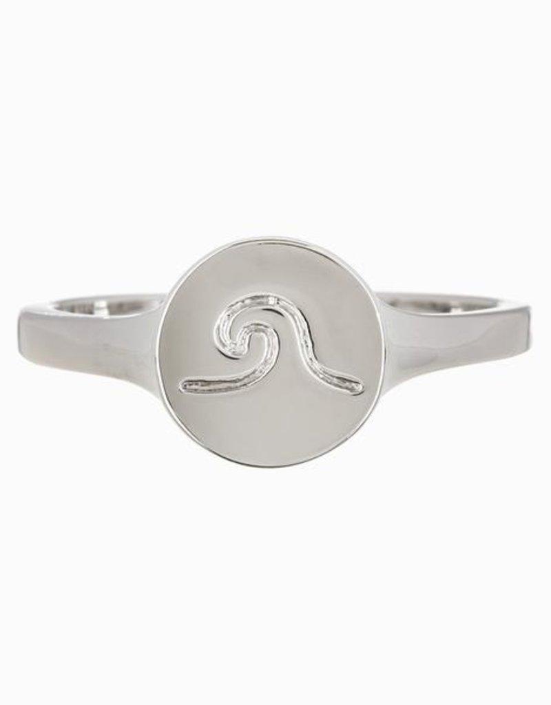 Pura Vida Pura Vida Wave Coin Ring