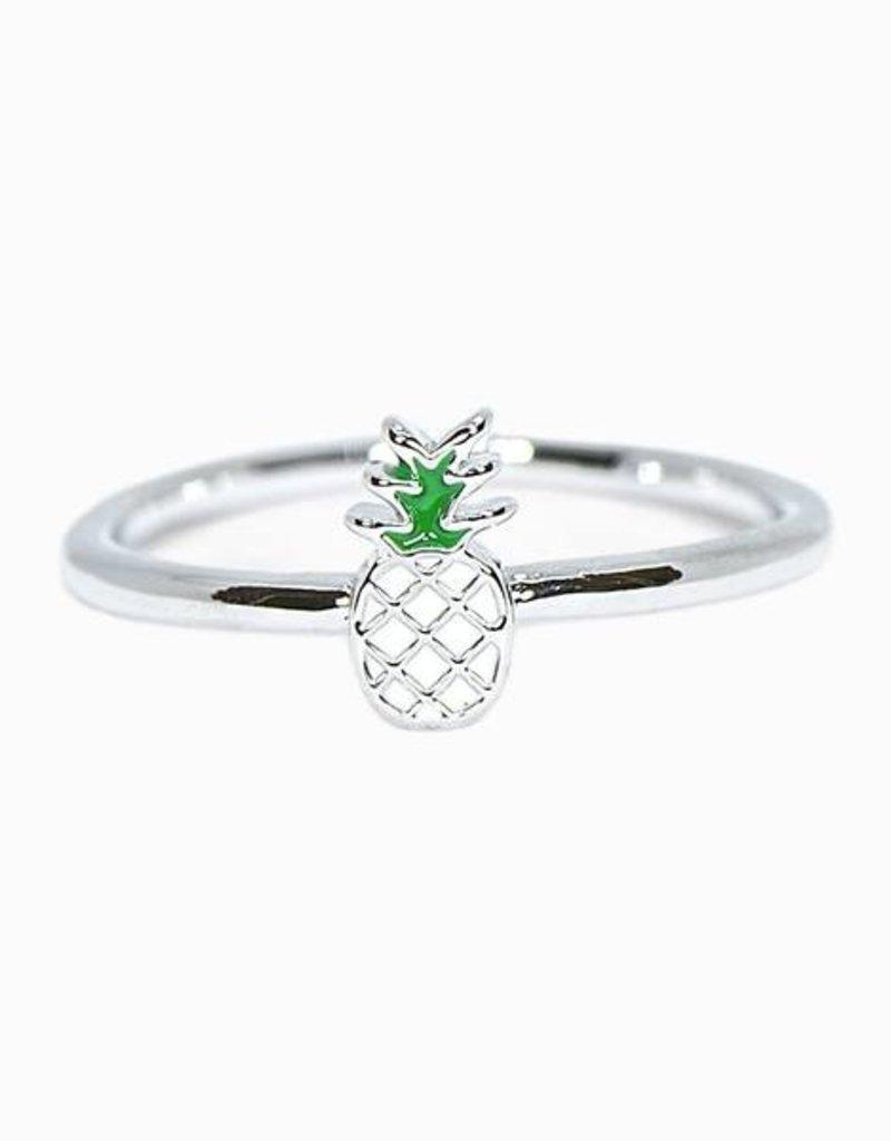 Pura Vida Pura Vida Pineapple Ring - Silver