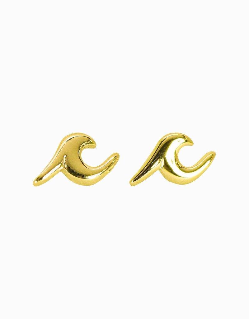 Pura Vida Pura Vida Wave Stud Earrings