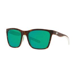 Costa Costa Panga Shiny Tortoise/White/Seafoam Crystal Frame Green Mirror 580P