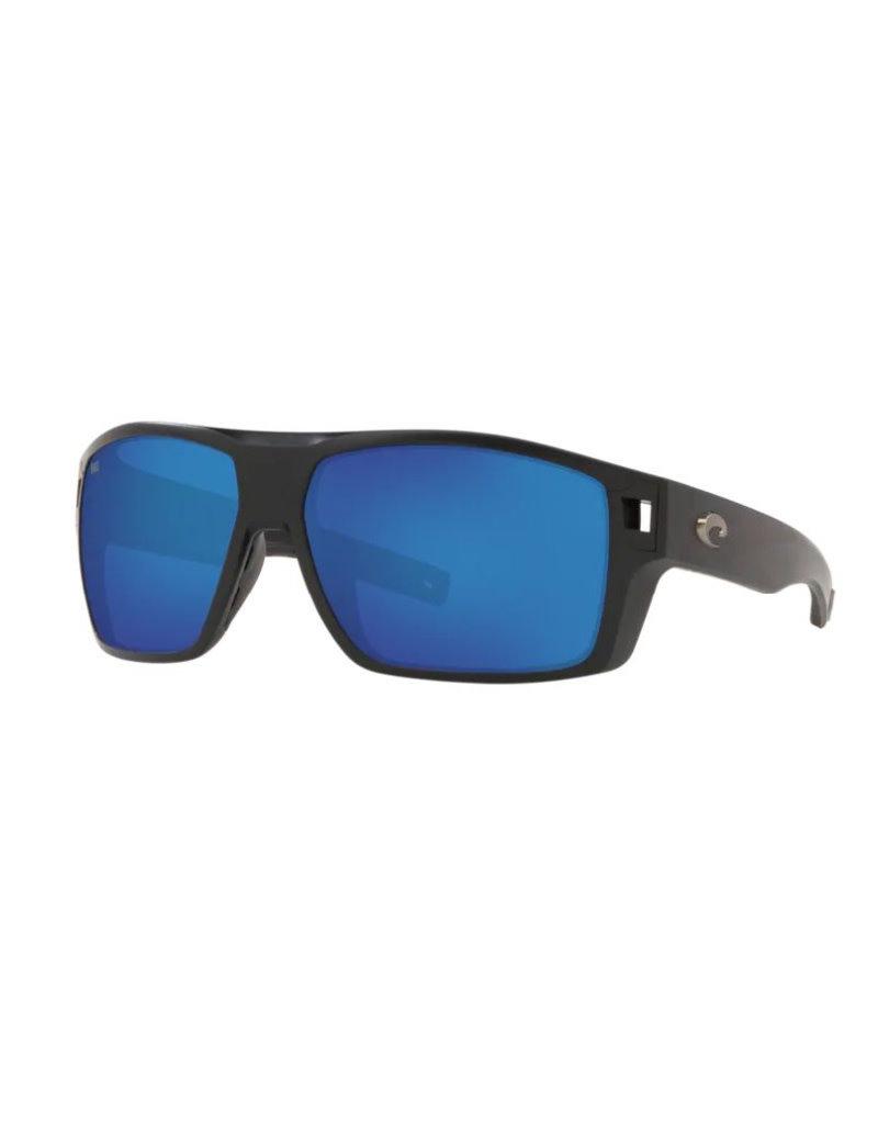 Costa Costa Diego Matte Black Blue Mirror 580P