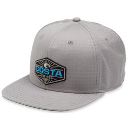 Costa Costa Neptune Ripstop Flat Brim Hat Gray