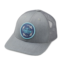 Costa Costa Ocearch Circle Shark Trucker Hat Gray/Gray