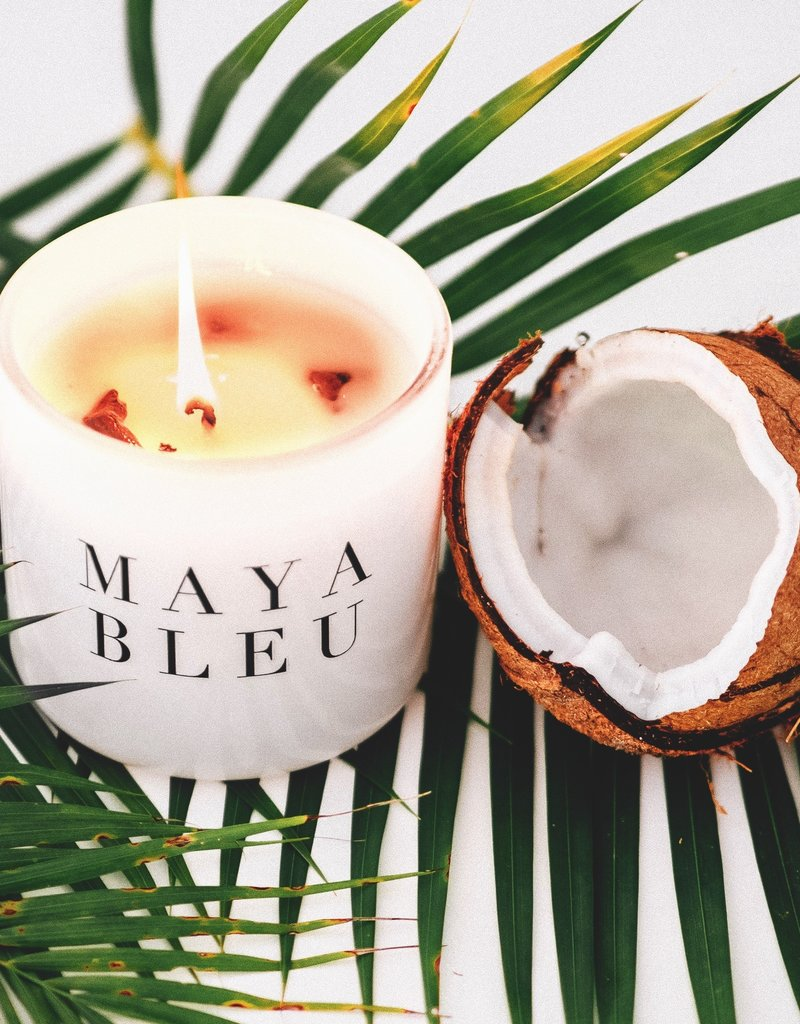 MAYA BLEU Maya Bleu's Original Shark Tooth Candle - White