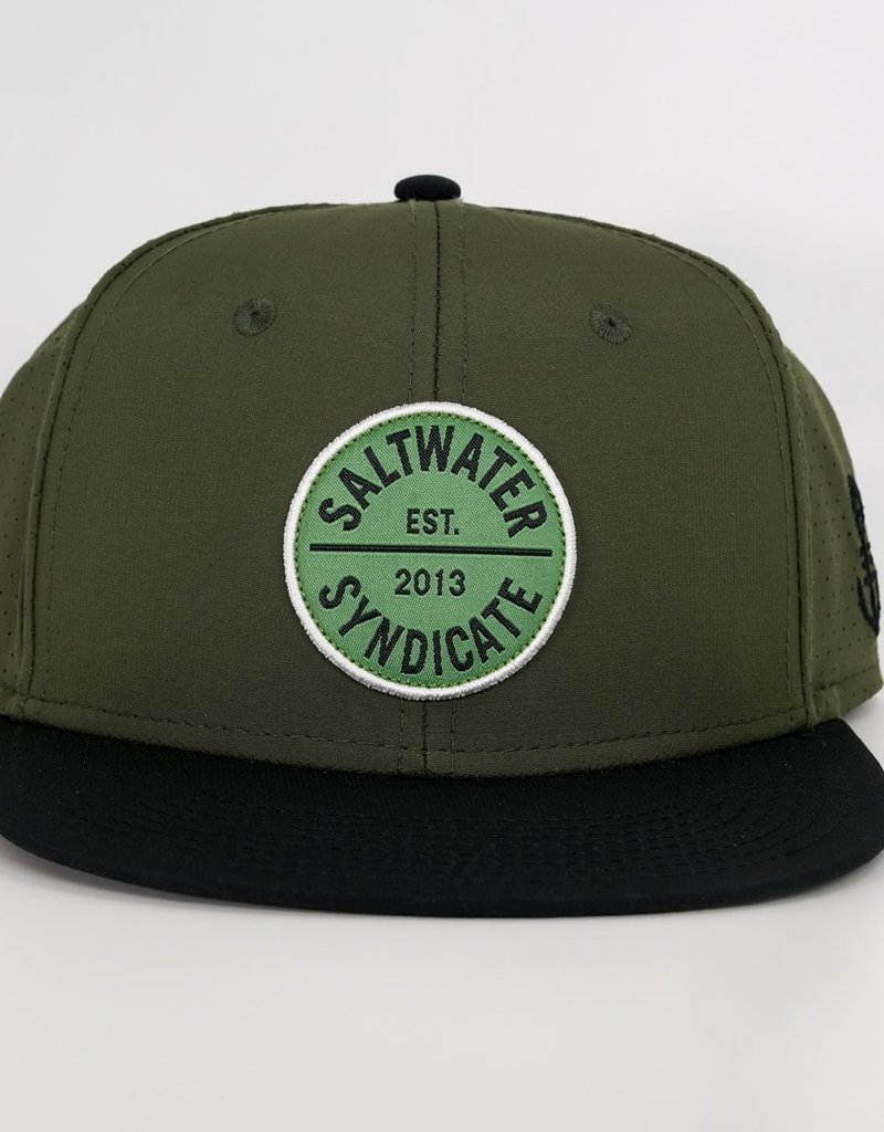 Saltwater Syndicate Saltwater Syndicate Circle Patch Flatbill Green