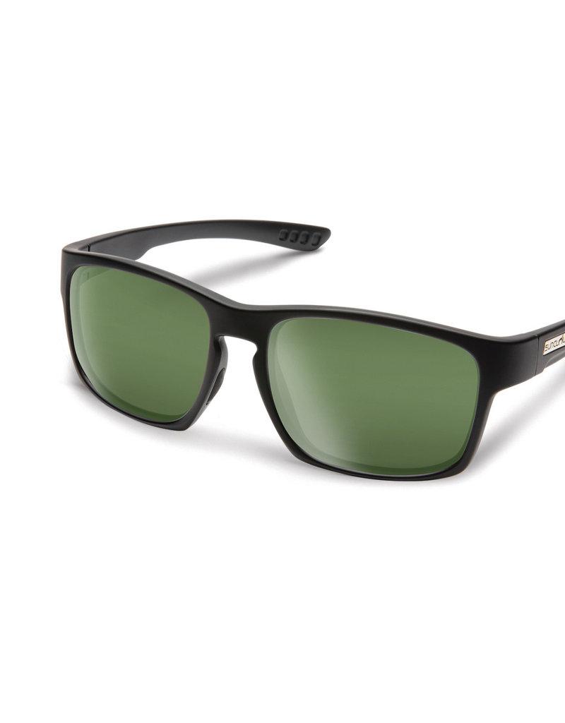 Suncloud Suncloud Fairfield Matte Black Polarized Gray Green