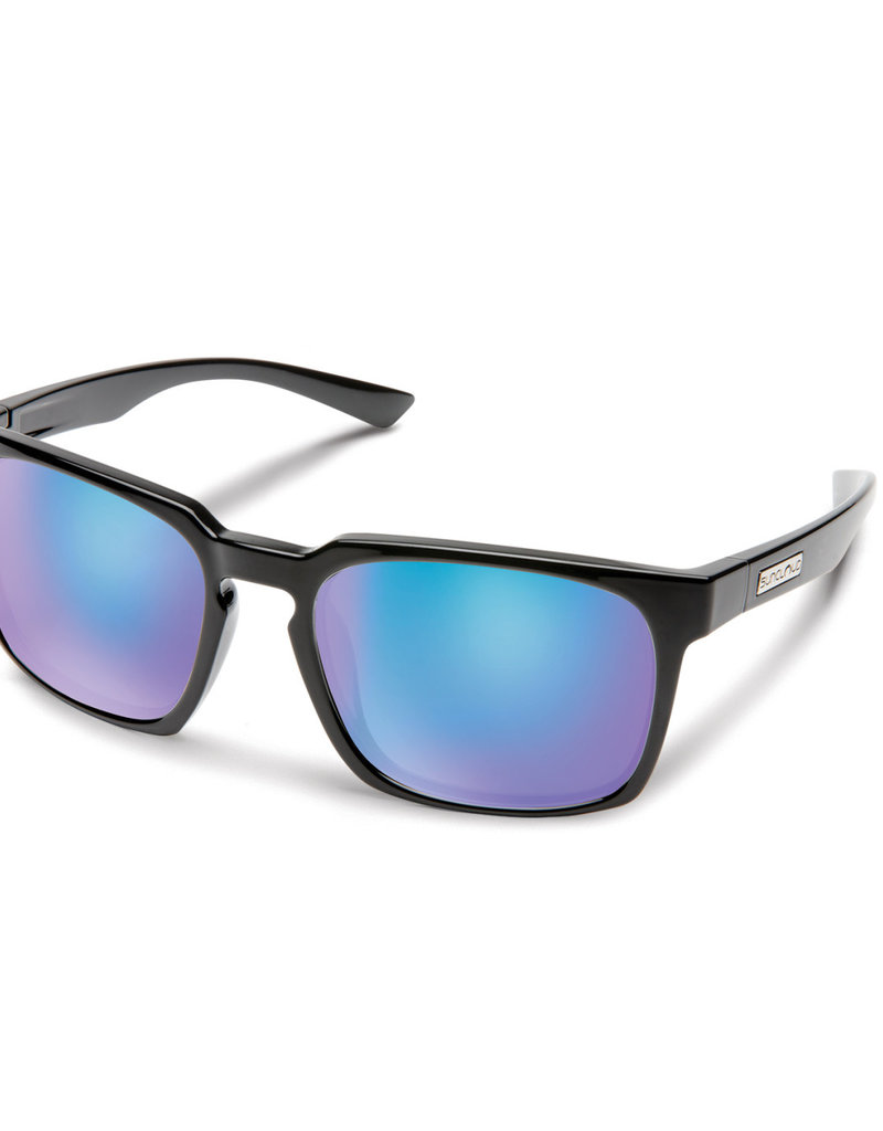 Suncloud Suncloud Hundo Black Polarized Blue Mirror
