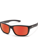 Suncloud Suncloud Mayor Sunglass: Matte Black/Polarized Red Mirror Lens