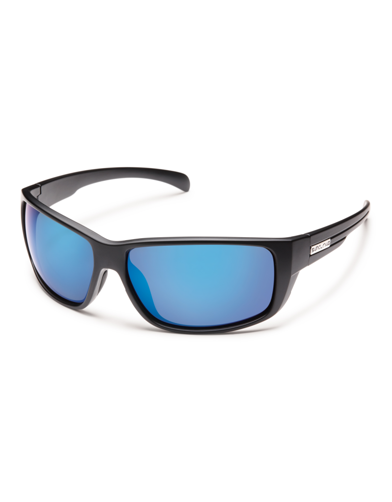 Suncloud Suncloud Milestone Matte Black/Polarized Blue Mirror