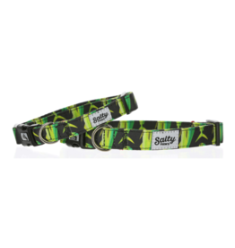 Salty Paws Salty Paws Mahi-Mahi Print Dog Collar Black