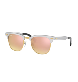 Ray Ban Ray-Ban Clubmaster Aluminum Brusched Silver w/ Copper Flash