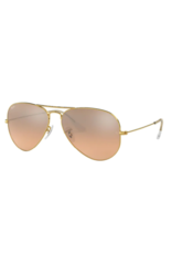 Ray Ban Ray-Ban Aviator Large Metal Gold w/ Crystal Brown-Pink Silver