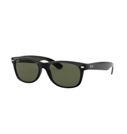 Ray Ban Ray-Ban New Wayfarer Black w/ Crystal Green Polarized