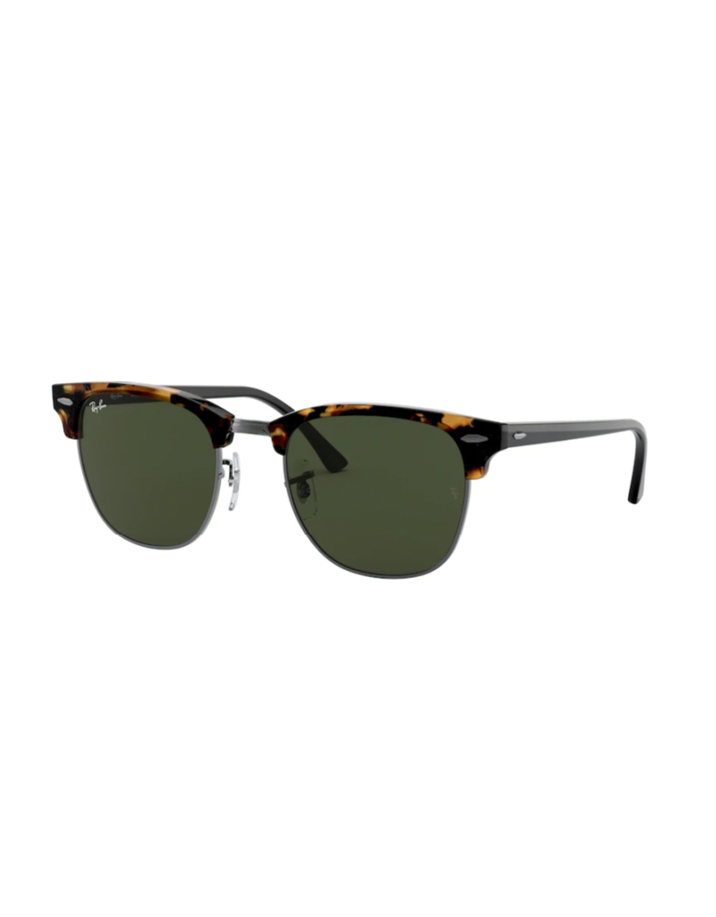 Ray Ban Ray-Ban Clubmaster Spotted Black Havana w/ Green