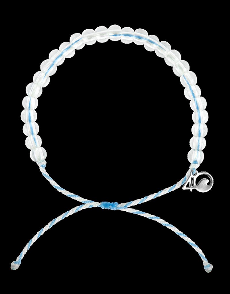 4Ocean 4Ocean Beluga Whale Bracelet - White/Light Blue