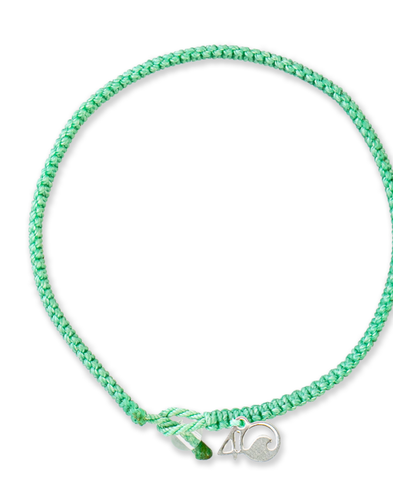 4Ocean 4Ocean Loggerhead Sea Turtle Braided Bracelet - Small, Neomint
