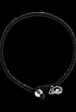 4Ocean 4Ocean Shark Braided Bracelet - Small, Black