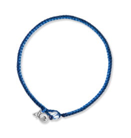 4Ocean 4Ocean Sperm Whale Braided Bracelet - Small, Blue/Navy