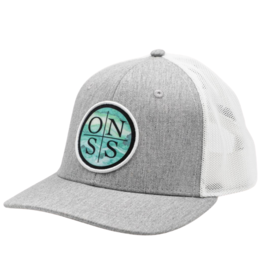 Old Naples Surf Shop ONSS Marbled Logo Trucker Hat