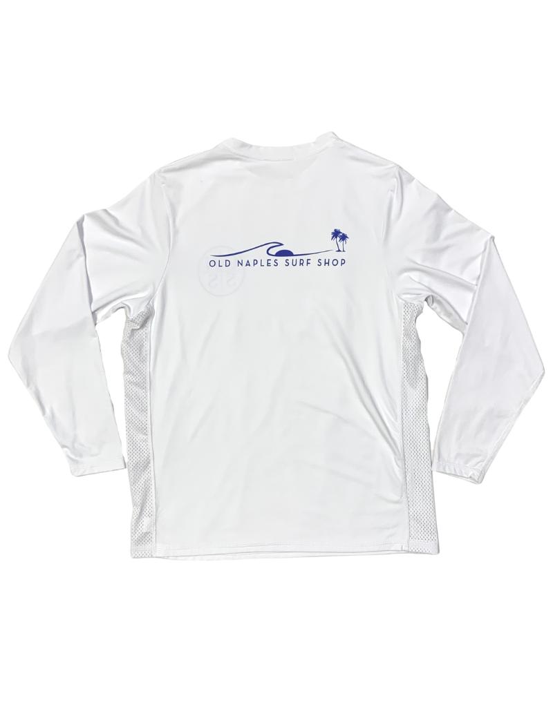 Old Naples Surf Shop ONSS Men's Side Vent Long Sleeve Lycra Shirt