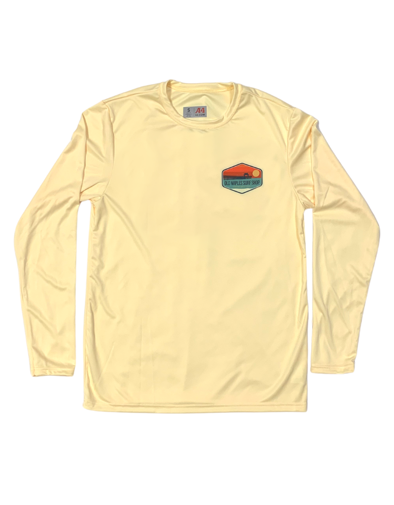 Old Naples Surf Shop ONSS Sunset Patch UV Long Sleeve Shirt