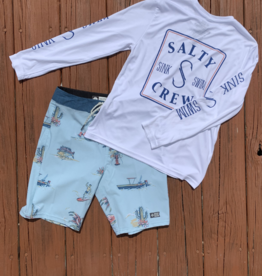 Salty Crew Salty Crew Squared Up Boys L/S Tech Tee
