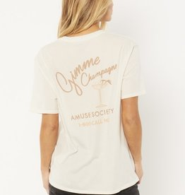 Amuse Society Amuse Society Gimme Champagne Knit Tee