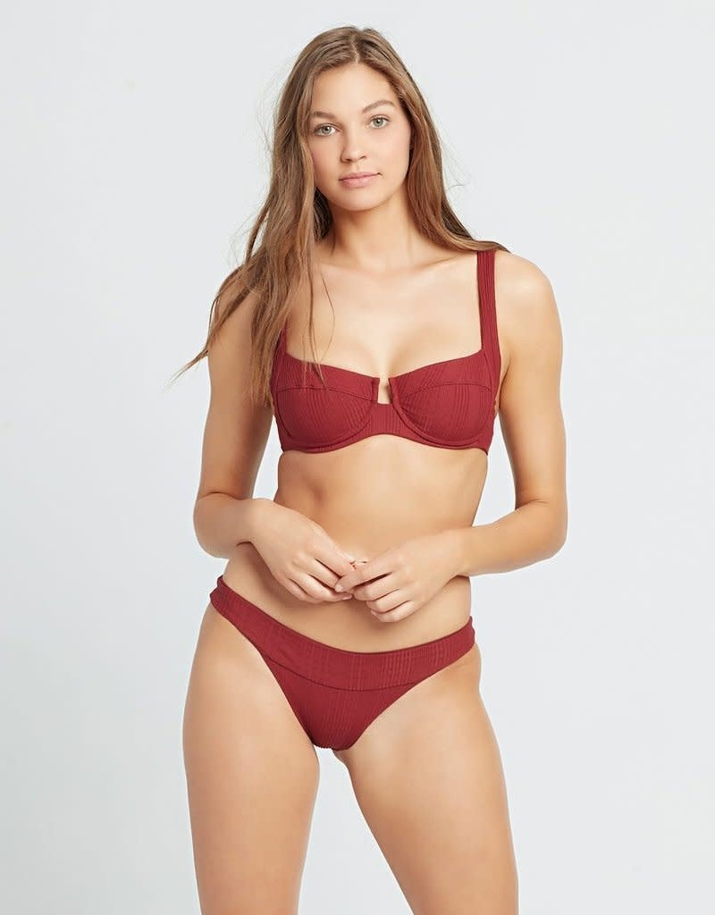 L*Space L*Space Pointelle Rib Veronica Bikini Bottom