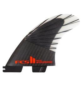 FCS FCS II Accelerator Performance Core Tri Fin Set - Black/Red - Medium